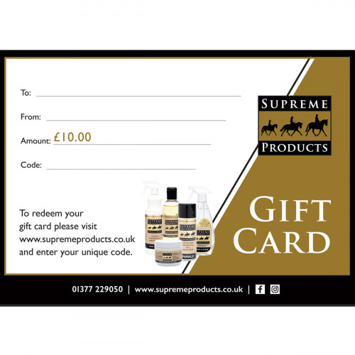 Supreme Products Gift Voucher - £10