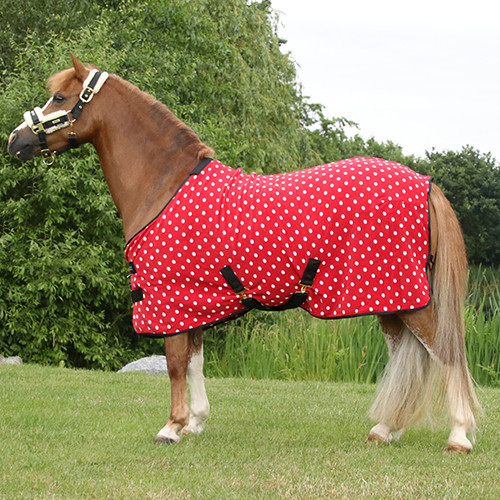 """Supreme Products Dotty Fleece Rug - Rosette Red - 3'3"""""""